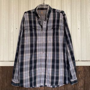 Carthatt plaid button down shirt long sleeve sz M